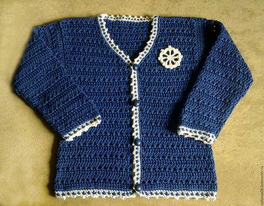 """Одежда для мальчиков, ручной работы. Ярмарка Мастеров - ручная работа. Купить Кофточка для мальчика """"Морская"""". Handmade. Комбинированный, для мальчика, для детей"""