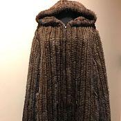 """Одежда ручной работы. Ярмарка Мастеров - ручная работа Полушубок из вязаной норки """"Инфинити"""" орех. Handmade."""