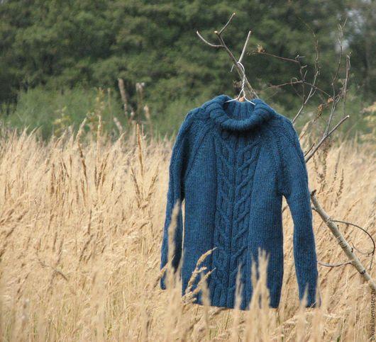 Одежда для мальчиков, ручной работы. Ярмарка Мастеров - ручная работа. Купить Вязаный детский свитер из альпаки. Ручная работа.. Handmade.