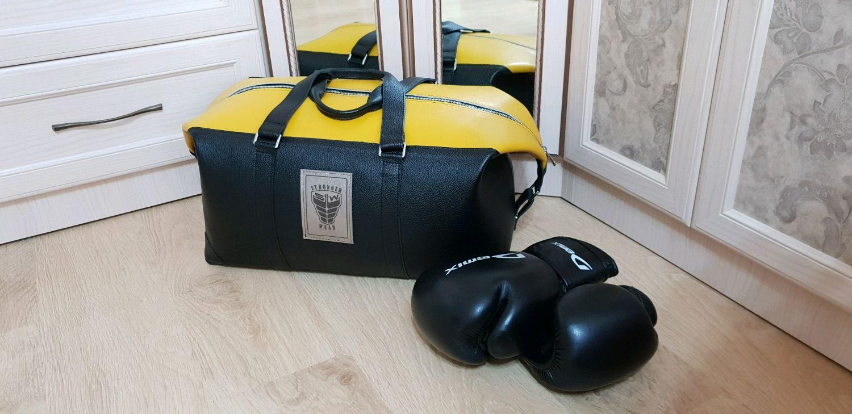 Спортивная дорожная кожаная сумка для боксера или фитнестренера, Спортивная сумка, Москва,  Фото №1