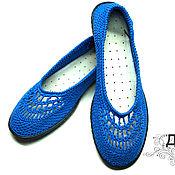 """Обувь ручной работы. Ярмарка Мастеров - ручная работа Балетки """"Очаровашки"""" / вязаная обувь на лето. Handmade."""