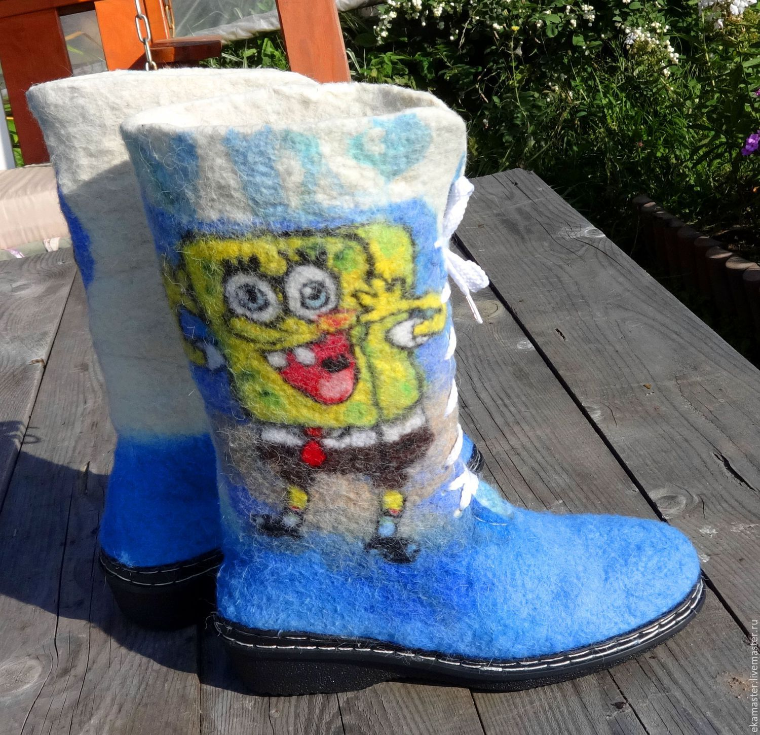 Felted high boots 'Favorite cartoon', Boots, Ekaterinburg,  Фото №1