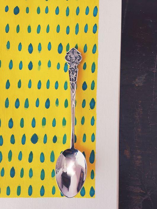"""Кухня ручной работы. Ярмарка Мастеров - ручная работа. Купить Серебряная ложка """"УЗОР"""". Handmade. Чайная ложка, серебряная ложка"""
