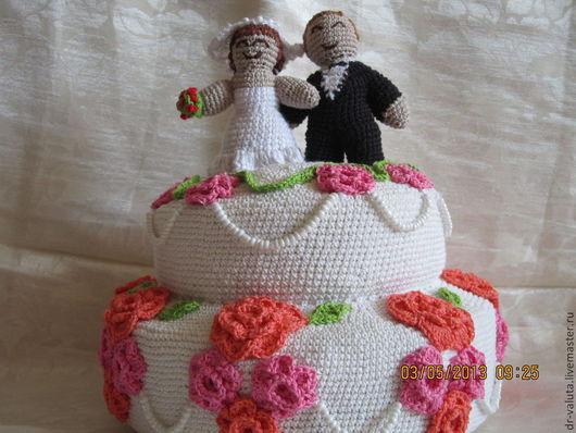 """Подарки для влюбленных ручной работы. Ярмарка Мастеров - ручная работа. Купить Торт свадебный """"Вечная любовь..."""". Handmade. Свадьба"""