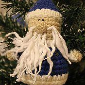 """Подарки к праздникам ручной работы. Ярмарка Мастеров - ручная работа Елочное украшение """"Дед Мороз"""". Handmade."""