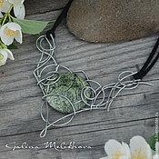 Украшения handmade. Livemaster - original item Necklace with serpentine