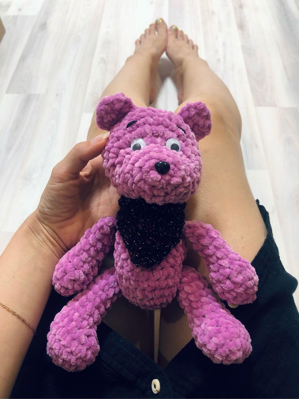 Мягкая игрушка плюшевый мишка вязаный, Мягкие игрушки, Санкт-Петербург,  Фото №1