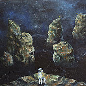 """Картины ручной работы. Ярмарка Мастеров - ручная работа Авторская картина маслом """"Край вселенной"""". Handmade."""