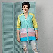 Одежда handmade. Livemaster - original item Author Linen shirt pastel colors. Handmade.
