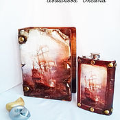 Сувениры и подарки handmade. Livemaster - original item Flask Sailboat. Handmade.