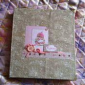 Канцелярские товары ручной работы. Ярмарка Мастеров - ручная работа альбом для девочки. Handmade.