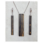 Украшения handmade. Livemaster - original item Jewelry set made of wood. Handmade.