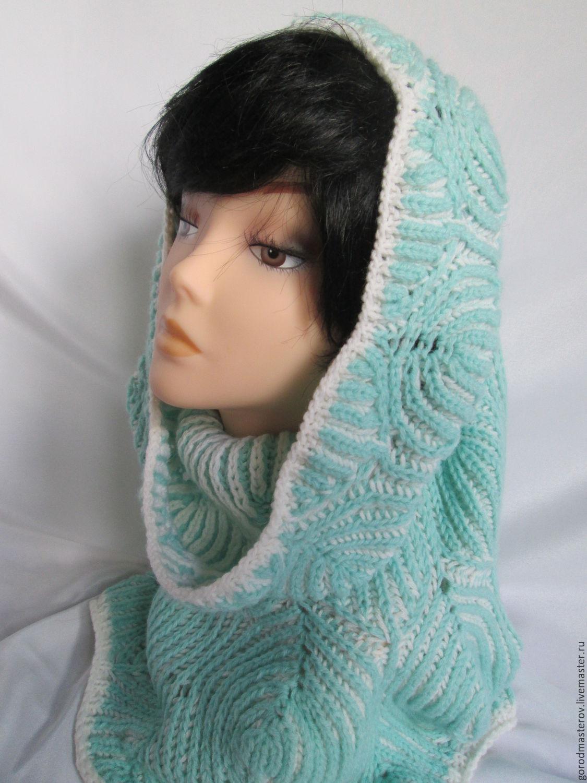 Snood tube cowl white - fresh brioche knit Snood, Caps, Moscow,  Фото №1
