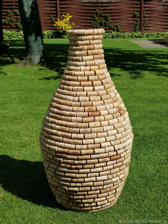 Ваза из под винных пробок; Winecork vase