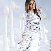 """Одежда ручной работы. Ярмарка Мастеров - ручная работа шифоное платье """"лебедь белая"""". Handmade."""