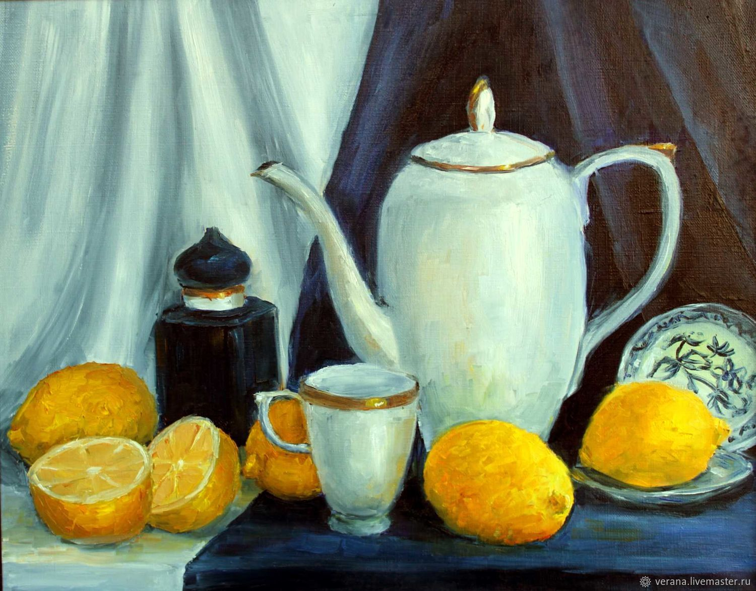 Oil painting. lemons, Pictures, Zhukovsky,  Фото №1