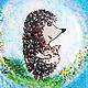 По мотивам мультфильма Ю.Норштейна. Любимый мультик с изображением очаровательного ёжика на тарелке может стать милым подарочком всем  ` Ёжикам ` и любителям этого мультика!
