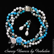 Украшения handmade. Livemaster - original item Necklace and earrings BLUMARINE. Handmade.