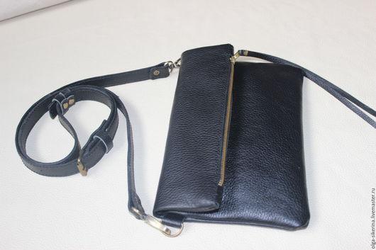 """Женские сумки ручной работы. Ярмарка Мастеров - ручная работа. Купить Клатч черный сумка через плечо """"black chic"""". Handmade."""