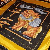 """Для дома и интерьера ручной работы. Ярмарка Мастеров - ручная работа Салфетка в азиатском стиле """"Защита дома"""". Handmade."""