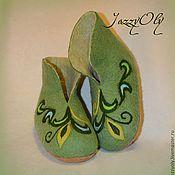 Обувь ручной работы. Ярмарка Мастеров - ручная работа Валяные сапожки для дома. Handmade.
