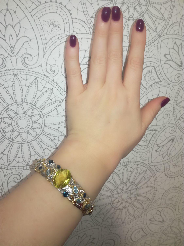 Bracelet ' the sun shines in a clear sky', Hard bracelet, Novaya Usman,  Фото №1