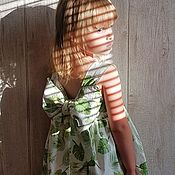 Платья ручной работы. Ярмарка Мастеров - ручная работа Сарафанчик babydoll ( листочки). Handmade.
