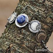 Украшения handmade. Livemaster - original item Silver bracelet with lapis lazuli full Moon. Handmade.