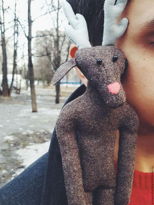 Игрушки животные, ручной работы. Ярмарка Мастеров - ручная работа. Купить Justin the deer. Handmade. Коричневый, олень