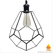 handmade. Livemaster - original item Loft Drop Lamp. Hermes. Handmade.