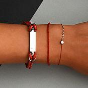 Украшения handmade. Livemaster - original item Leather bracelet with engraving. Handmade.