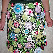 Одежда ручной работы. Ярмарка Мастеров - ручная работа юбка из мотивов Летний полдень. Handmade.