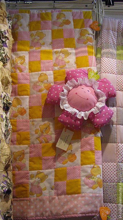 """Пледы и одеяла ручной работы. Ярмарка Мастеров - ручная работа. Купить Одеяло """"Сладкие сны"""". Handmade. Бледно-розовый"""