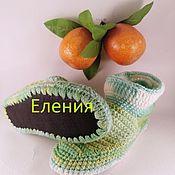 Тапочки ручной работы. Ярмарка Мастеров - ручная работа Тапочки: -сапожки на войлочной и кожаной стельке. Handmade.