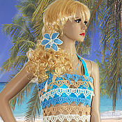 Одежда handmade. Livemaster - original item Openwork beach top Lily.. Handmade.