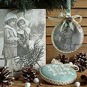 """Подарки к праздникам ручной работы. Ярмарка Мастеров - ручная работа """"Старинное Рождество""""-набор елочных игрушек. Handmade."""