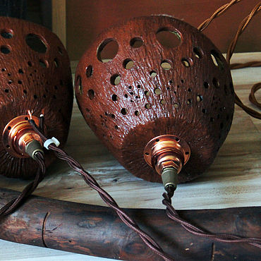 Освещение ручной работы. Ярмарка Мастеров - ручная работа Люстра Короед. Handmade.