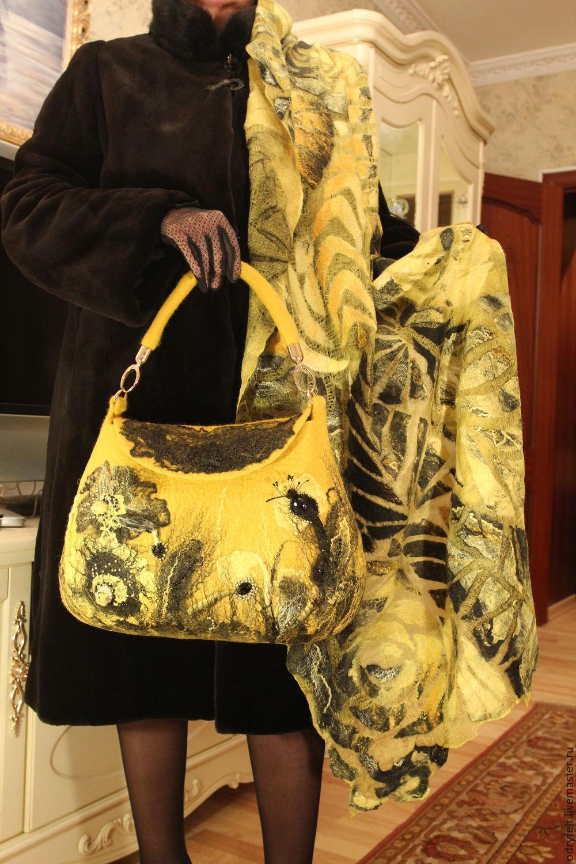 """Женские сумки ручной работы. Ярмарка Мастеров - ручная работа. Купить Валяная сумка """"Каприз"""". Handmade. Валяние, сумка валяная"""