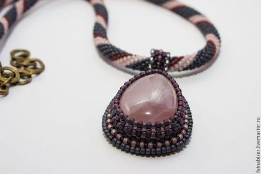 Кулоны, подвески ручной работы. Ярмарка Мастеров - ручная работа. Купить Кулон с розовым кварцем (с двумя цепочками). Handmade.