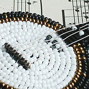 Украшения handmade. Livemaster - original item A beaded brooch is an Old banjo. Handmade.