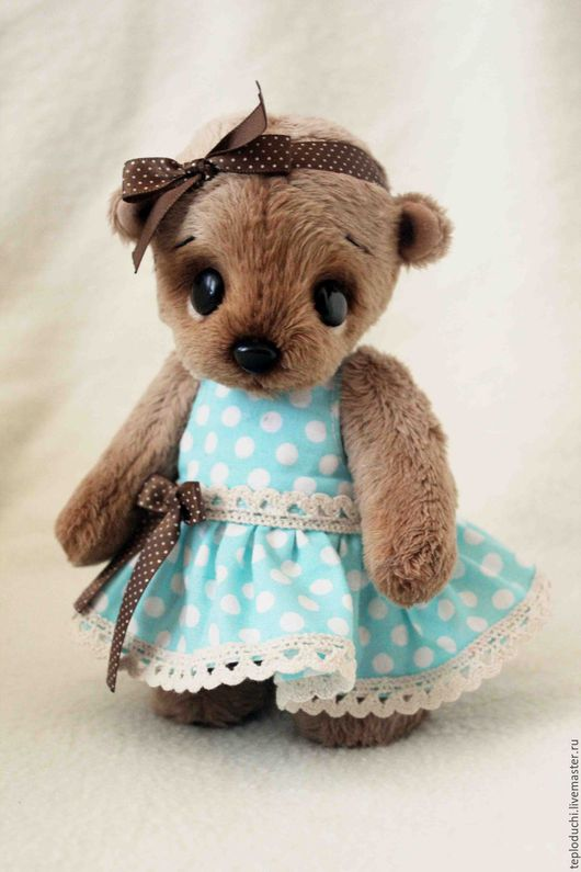 Мишки Тедди ручной работы. Ярмарка Мастеров - ручная работа. Купить Маруся. Handmade. Бежевый, мишка в одежке