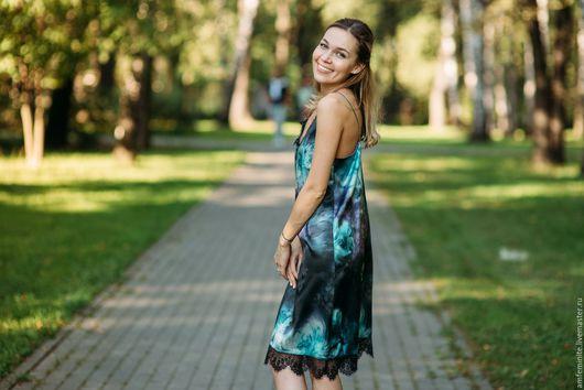 Платья ручной работы. Ярмарка Мастеров - ручная работа. Купить Шелковое платье-комбинация. Handmade. Платье, платье коктейльное, женственная