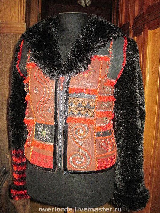 """Верхняя одежда ручной работы. Ярмарка Мастеров - ручная работа. Купить Куртка """"Пэчворк"""". Handmade. Куртка, вышивка"""