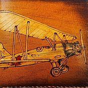 Кошельки ручной работы. Ярмарка Мастеров - ручная работа Кожаный кошелек Биплан. Handmade.