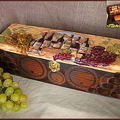 Подарки к праздникам ручной работы. Ярмарка Мастеров - ручная работа Короб для вина. Handmade.