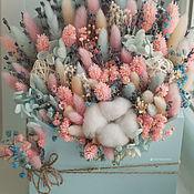 Композиции ручной работы. Ярмарка Мастеров - ручная работа Интерьерные деревянные  конверты с сухоцветами размер M. Handmade.