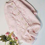Одежда детская handmade. Livemaster - original item Children`s knitted pink jumpsuit. Handmade.