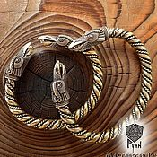 Украшения ручной работы. Ярмарка Мастеров - ручная работа Браслет на руку, мужской браслет из бронзы, славянский ворон. Handmade.