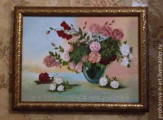 """Картины цветов ручной работы. Ярмарка Мастеров - ручная работа. Купить Картина маслом """"Розы"""". Handmade. Комбинированный, натюрморт с розами"""