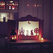 Кукольный театр ручной работы. Ярмарка Мастеров - ручная работа Театр теней Набор персонажей «Волшебное королевство». Handmade.